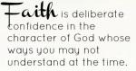 FAITH is deliberate (2)